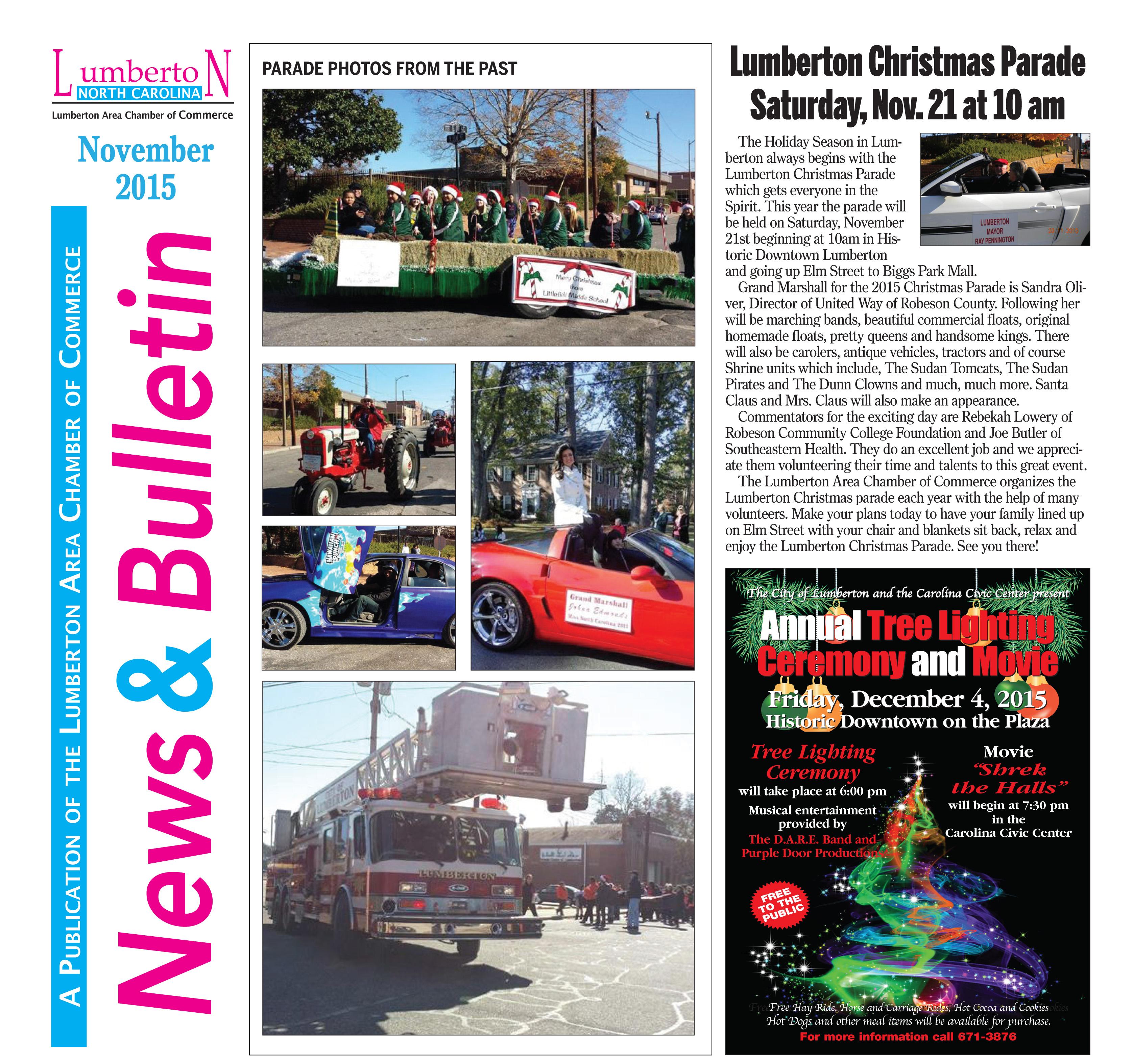 Chamber Newsletter December 2015