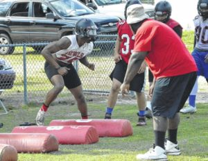 Red Springs football team working smarter this spring