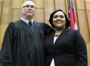 Family court: Lumberton judge swears in lawyer daughter