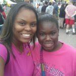 Fairgrove Middle School teacher Kisha and student Makayla enjoy a day at the fair.