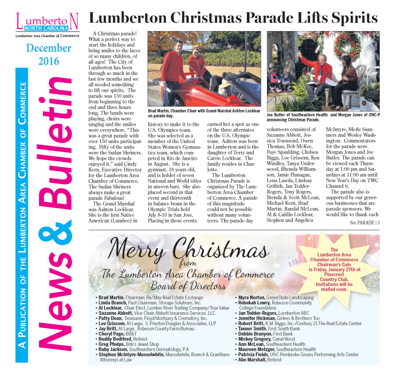 Chamber Newsletter Dec. 2016