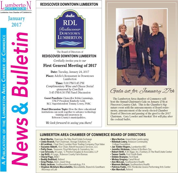 Chamber Newsletter Jan. 2017