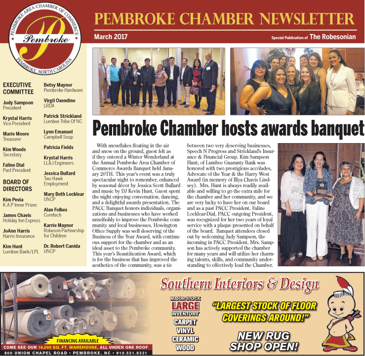 Pembroke Chamber Newsletter March 2017